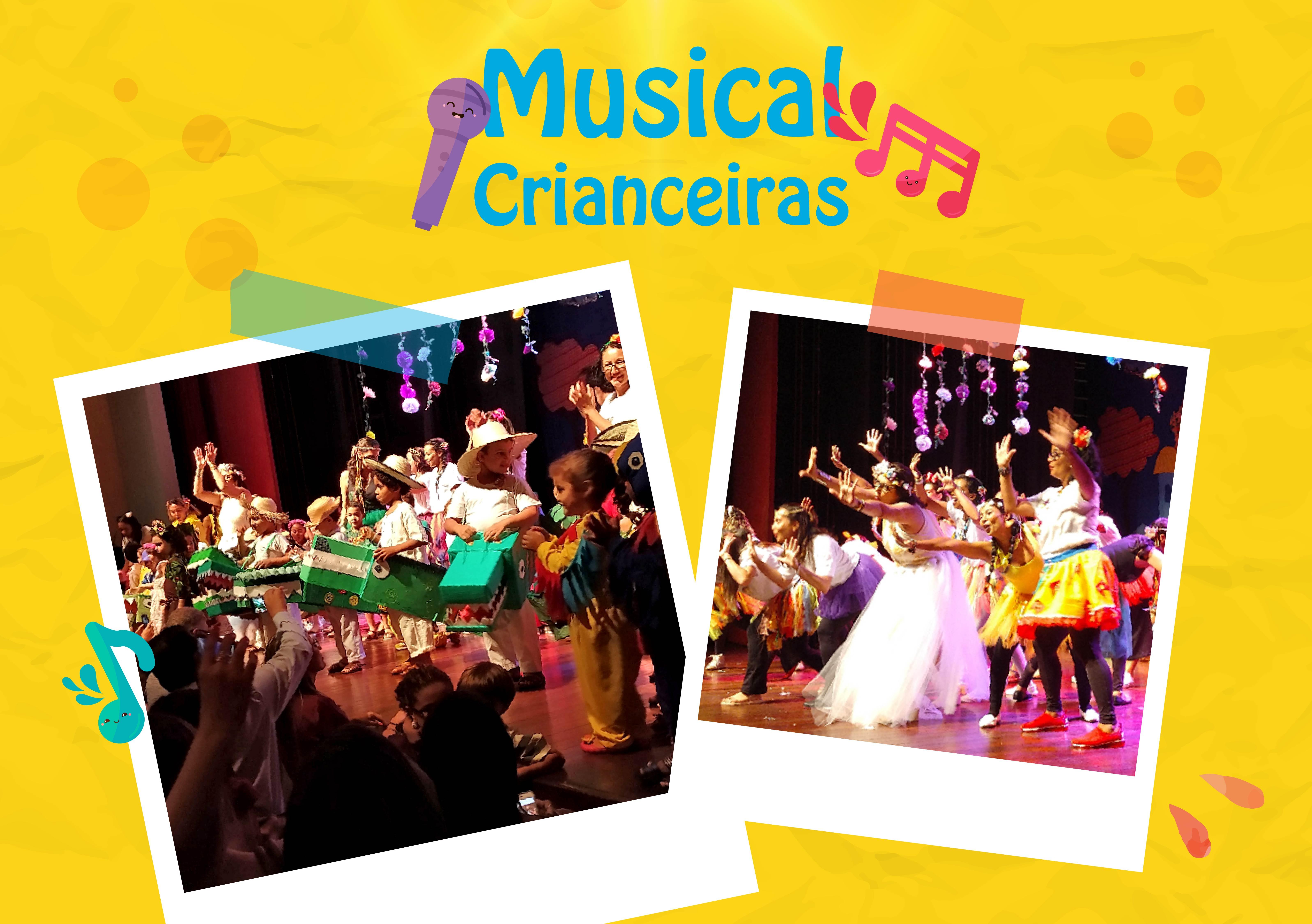 Musical Crianceiras encerra ano letivo da Educação Infantil com muita emoção