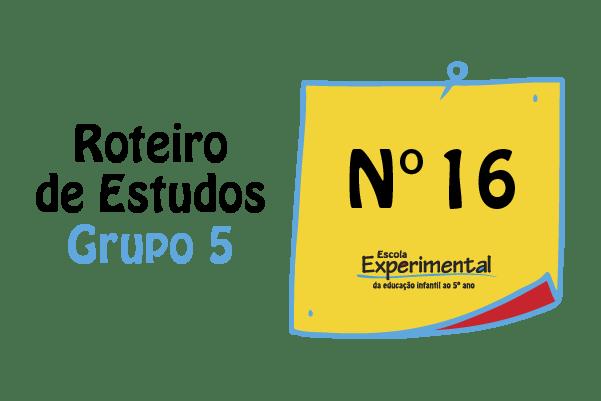 Grupo 5 – Roteiro de Estudos de 31/08 a 04/09