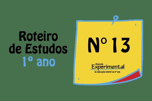 1º ano – Roteiro de Estudos de 10/08 a 14/08