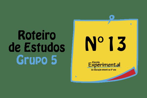 Grupo 5 – Roteiro de Estudos de 10/08 a 14/08